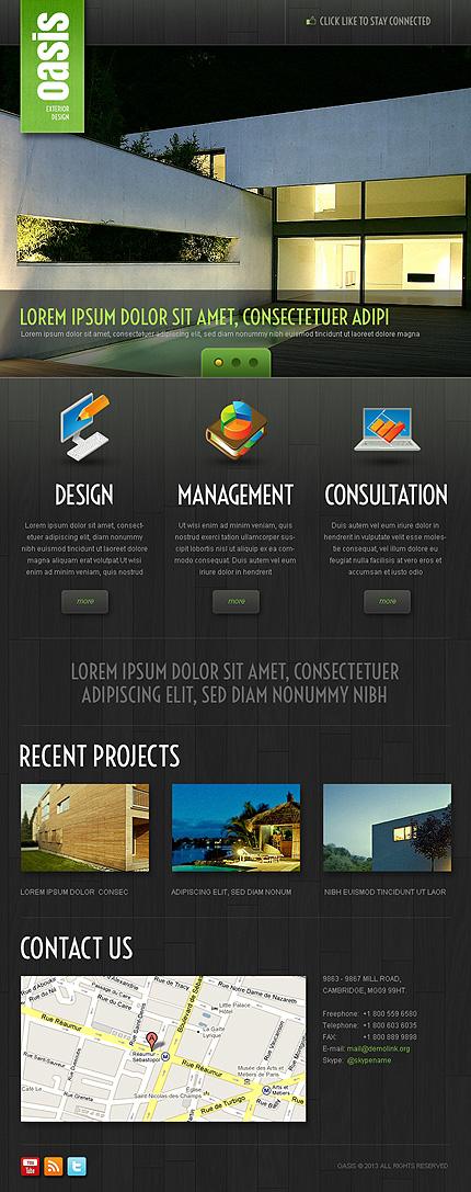 ADOBE Photoshop Template 41771 Home Page Screenshot