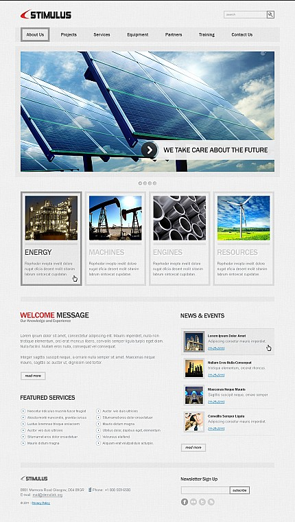 ADOBE Photoshop Template 41777 Home Page Screenshot
