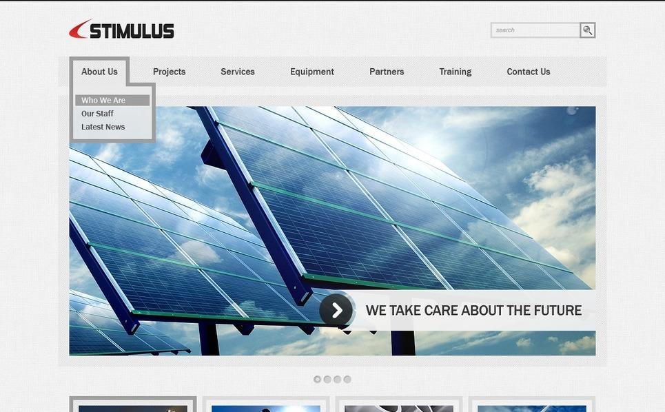 Szablon Flash CMS #41777 na temat: przemysł New Screenshots BIG