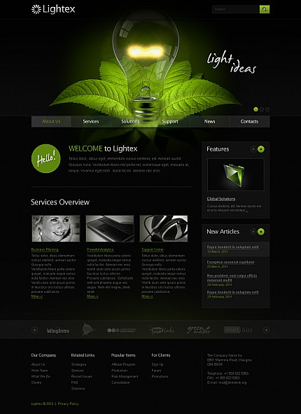 ADOBE Photoshop Template 41778 Home Page Screenshot