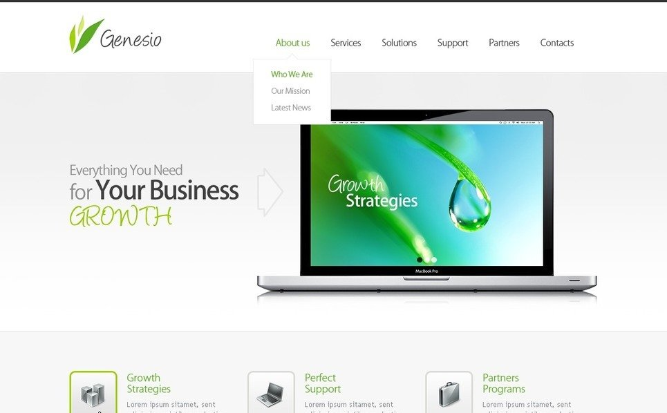 Plantilla Flash CMS #41779 para Sitio de Negocio y Servicios New Screenshots BIG