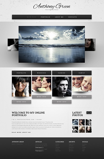 ADOBE Photoshop Template 41780 Home Page Screenshot