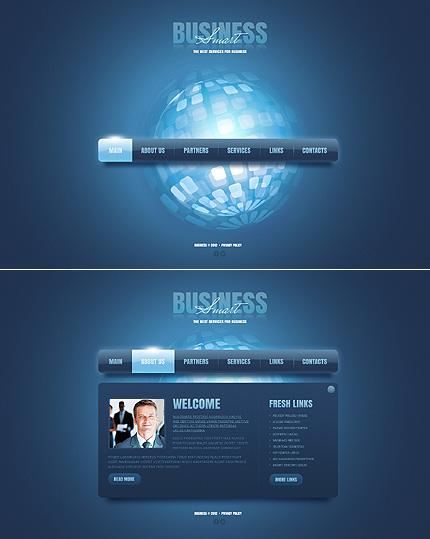 ADOBE Photoshop Template 41781 Home Page Screenshot