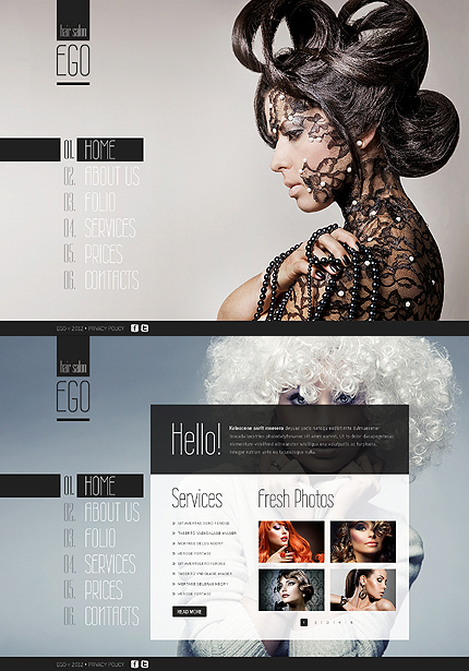 ADOBE Photoshop Template 41782 Home Page Screenshot