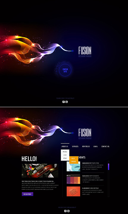 ADOBE Photoshop Template 41784 Home Page Screenshot