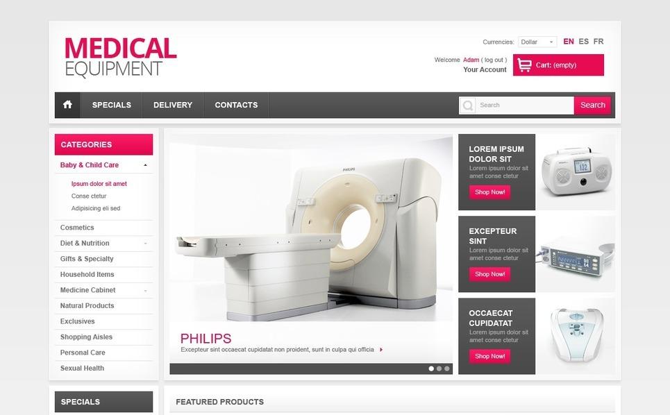 Orvosi felszerelések PrestaShop sablon New Screenshots BIG