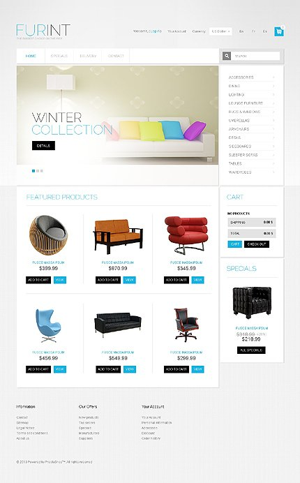 ADOBE Photoshop Template 41798 Home Page Screenshot