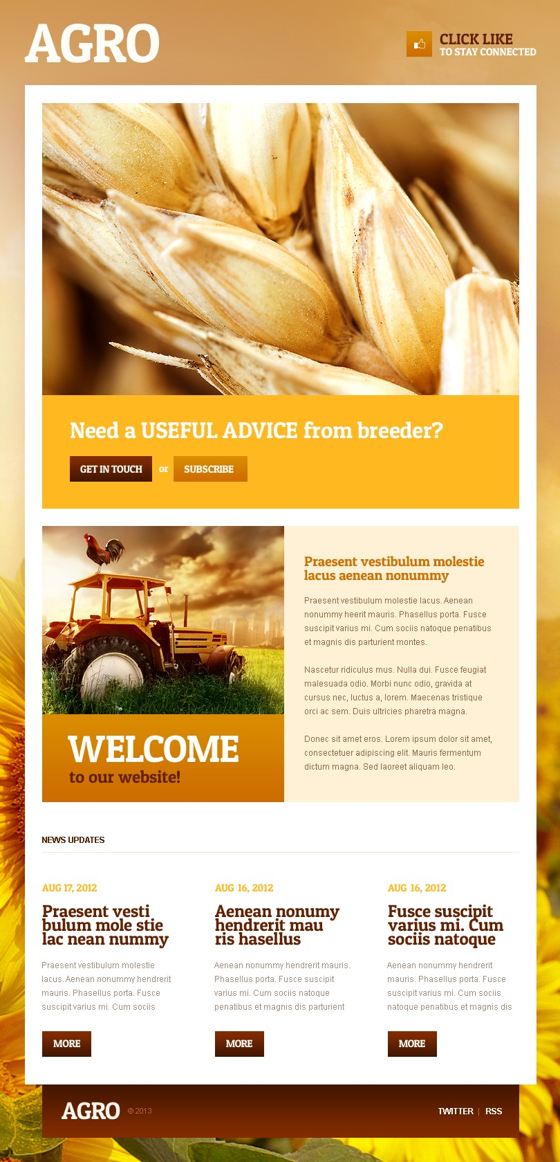 Agriculture Facebook Template - screenshot