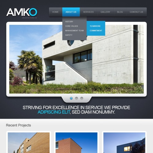 Amko - Drupal Achitecture Website Template