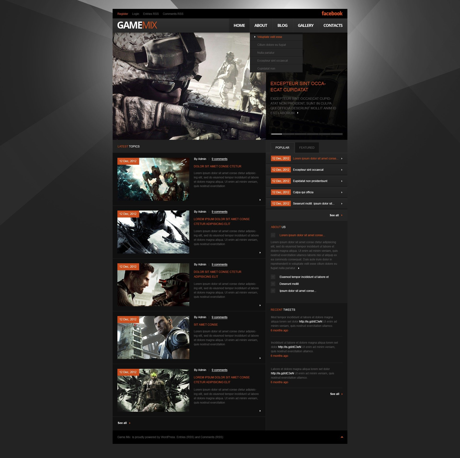 Game Portal WordPress Theme #41788