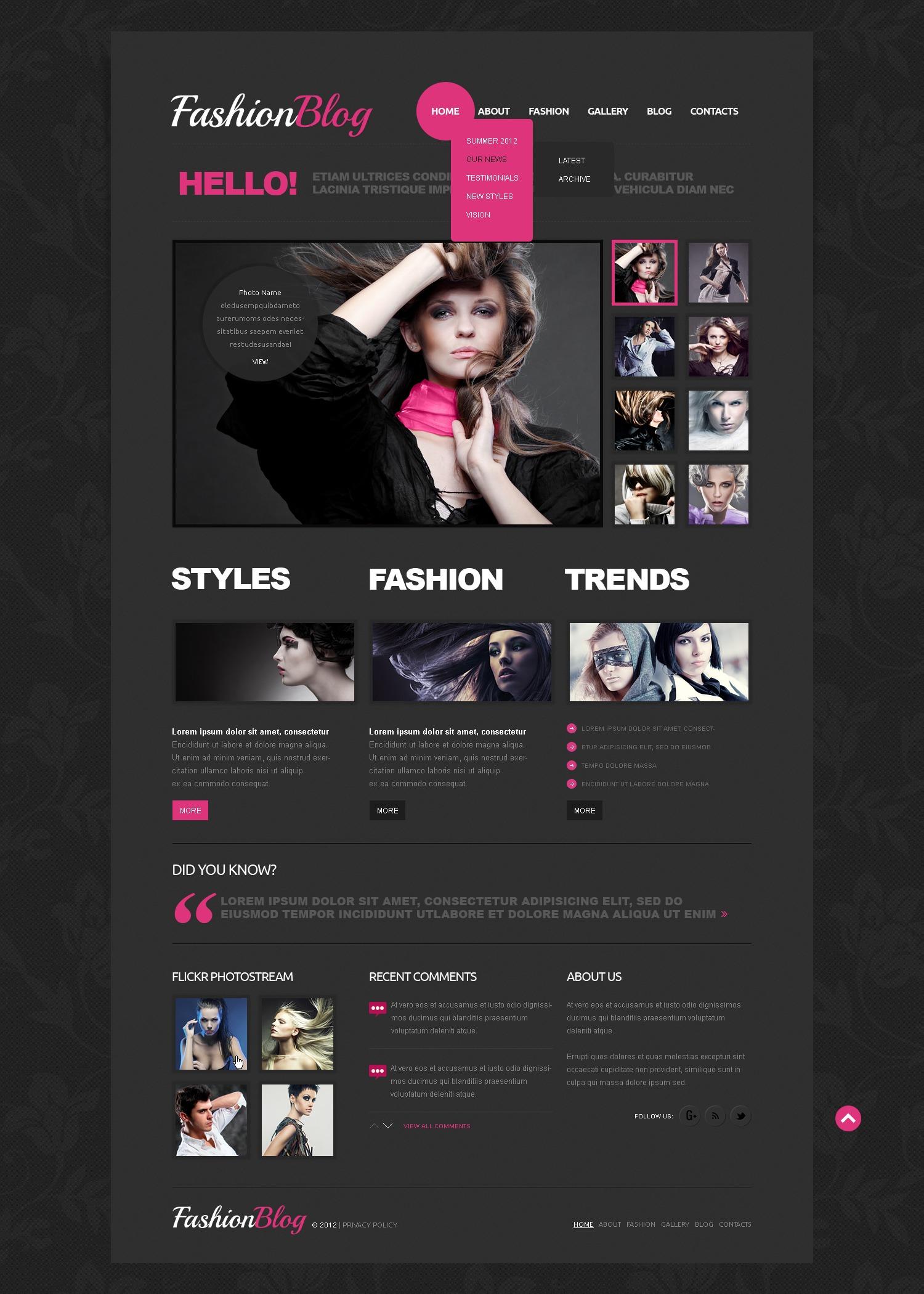 Joomla-mall för Mode #41721 - skärmbild