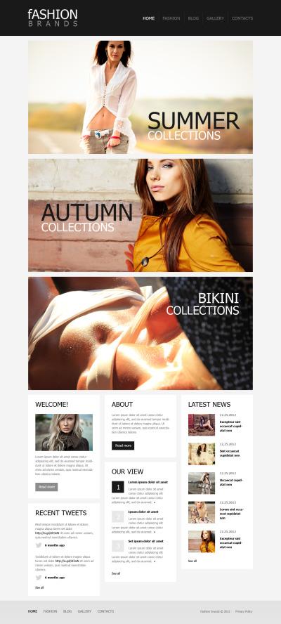 Fashion Moto CMS HTML šablona