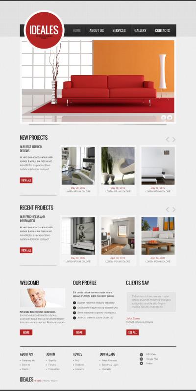 Modèle Moto CMS HTML  pour site de design intérieur