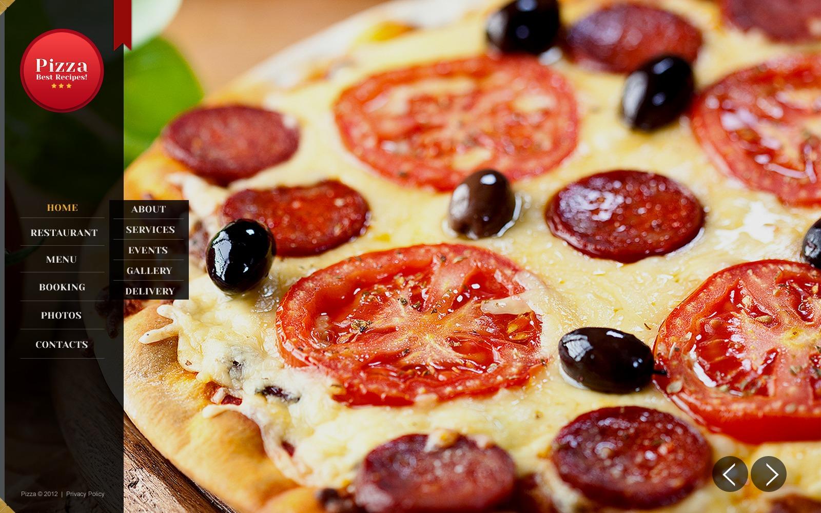 Pizza website template 41717 for Pizza original