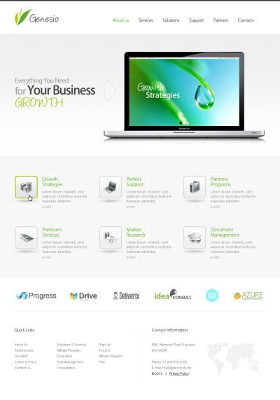 Szablon Flash CMS #41779 na temat: biznes i usługi