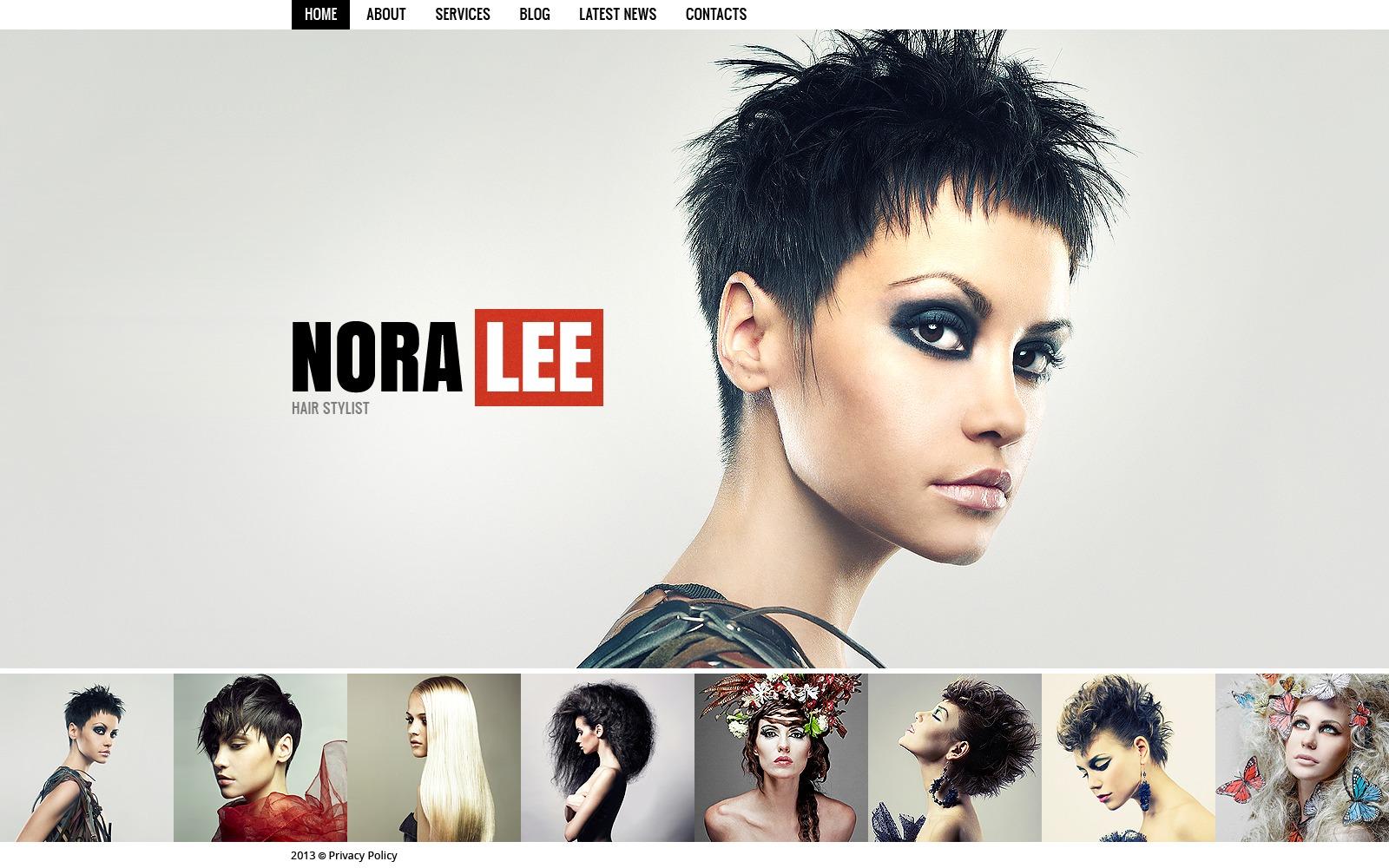 Szablon Strona Www #41713 na temat: salon fryzjerski