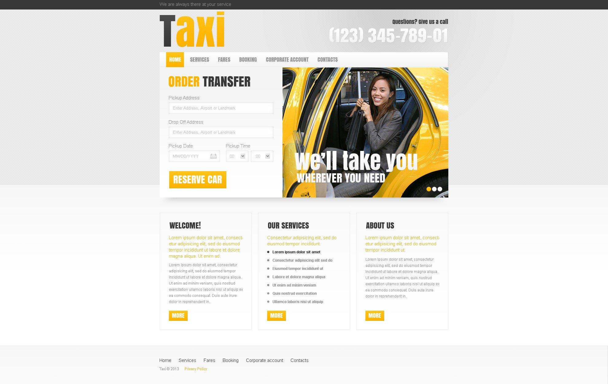 Taxi PSD Template