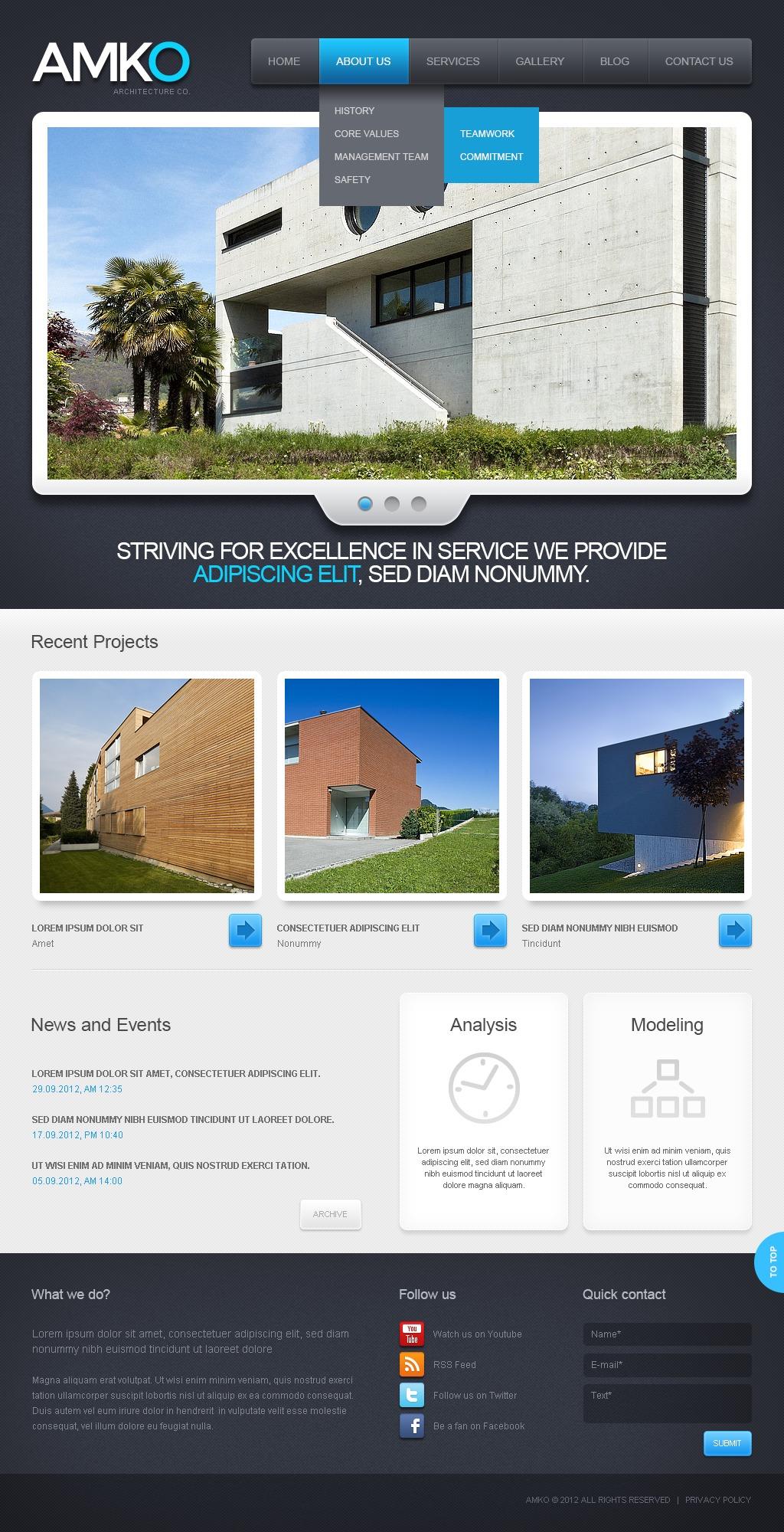Template Drupal para Sites de Arquitetura №41786