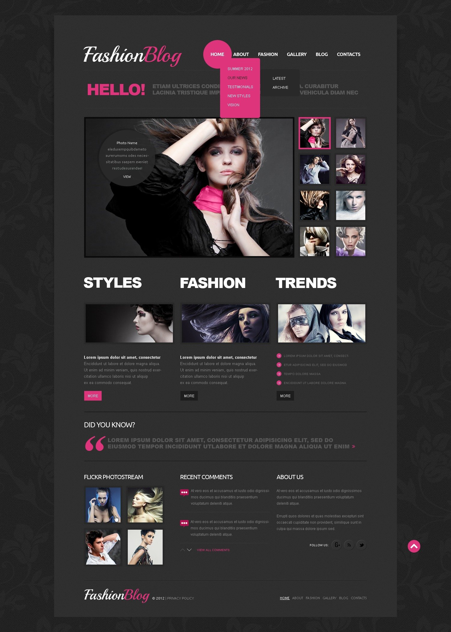Template Joomla para Sites de Moda №41721 - captura de tela