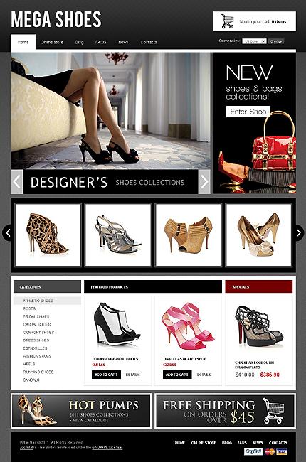 ADOBE Photoshop Template 41803 Home Page Screenshot