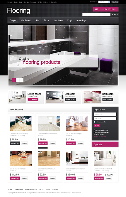 ADOBE Photoshop Template 41807 Home Page Screenshot