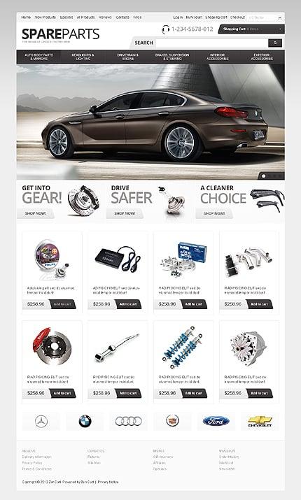 ZenCart Template 41808 Main Page Screenshot
