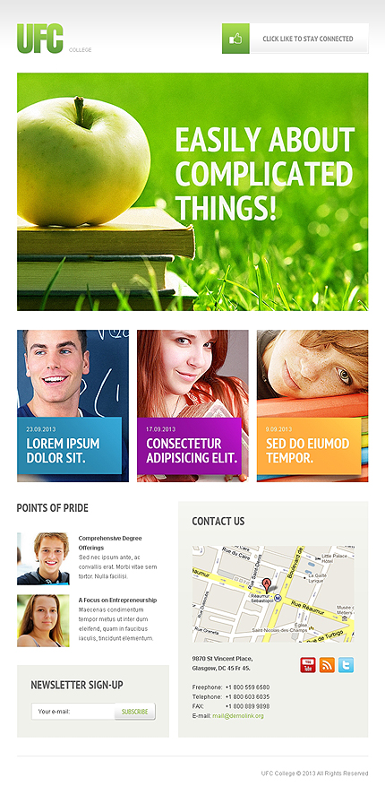 ADOBE Photoshop Template 41825 Home Page Screenshot