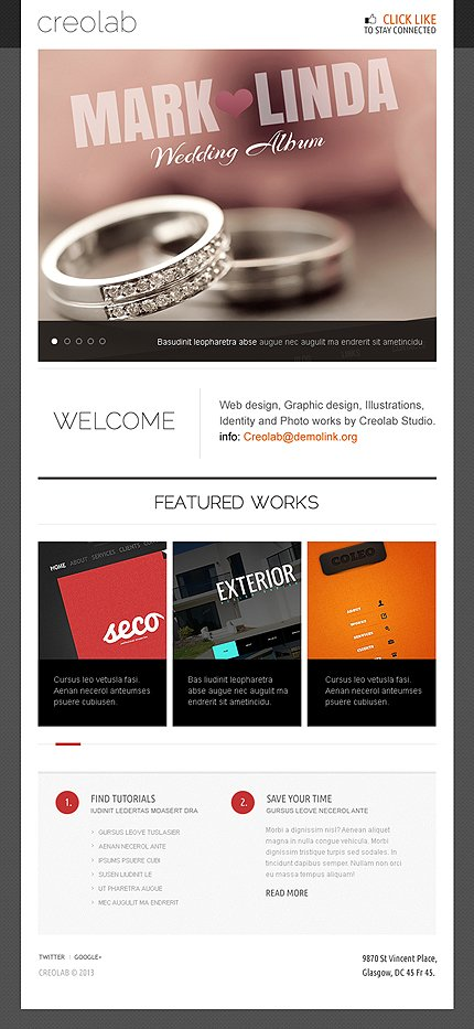 ADOBE Photoshop Template 41826 Home Page Screenshot