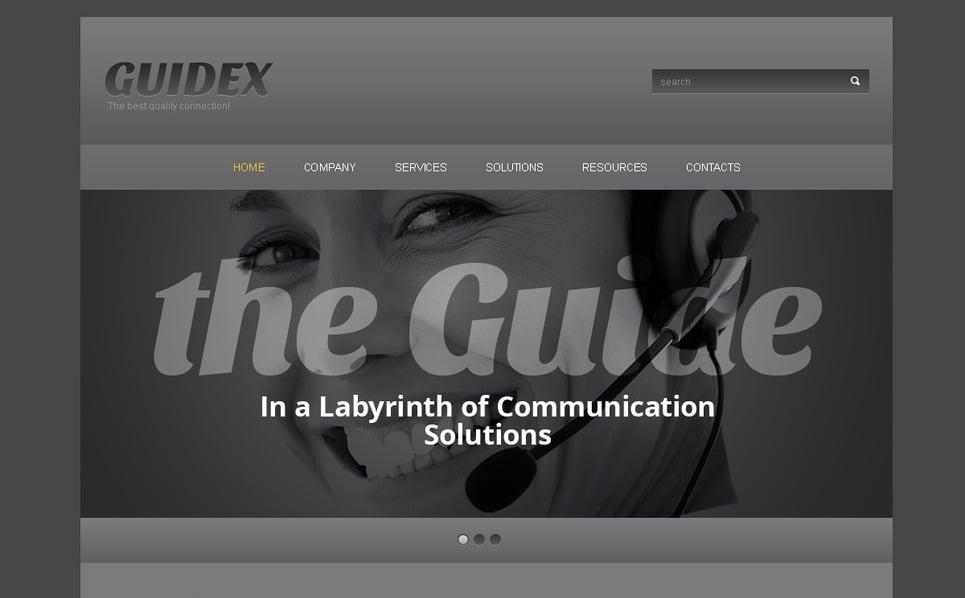 Responzivní Šablona webových stránek na téma Komunikace New Screenshots BIG
