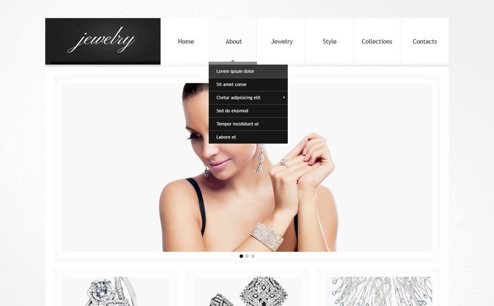 Responsywny szablon strony www #41831 na temat: biżuteria New Screenshots BIG