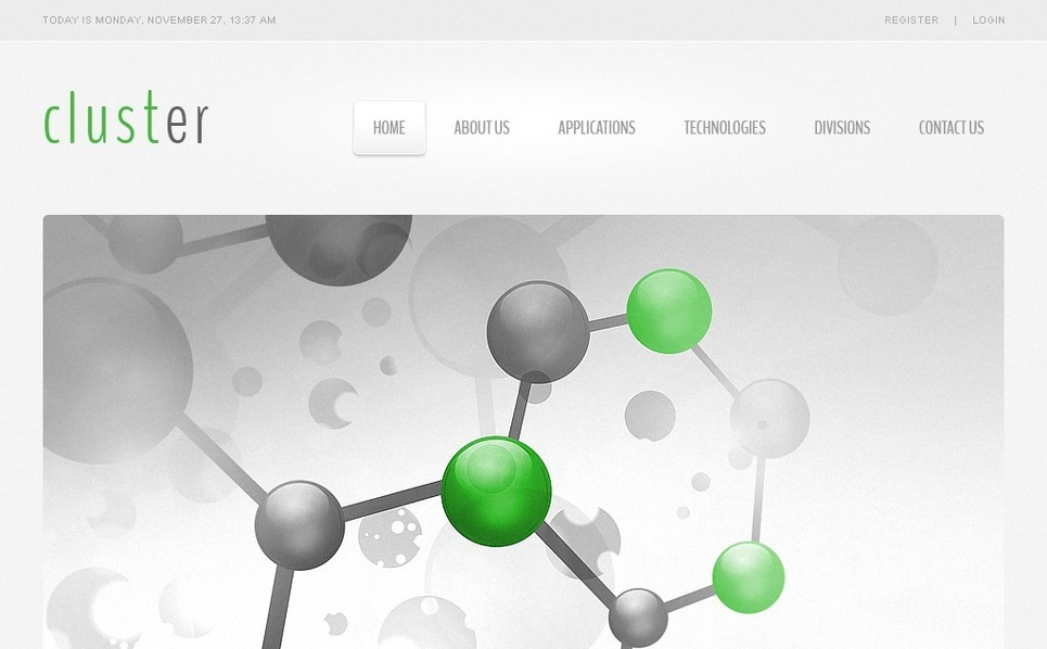 Responsive Website template over Sciencelaboratoria New Screenshots BIG