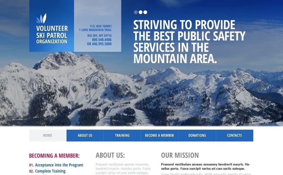 Website Vorlage für Skilauf  New Screenshots BIG
