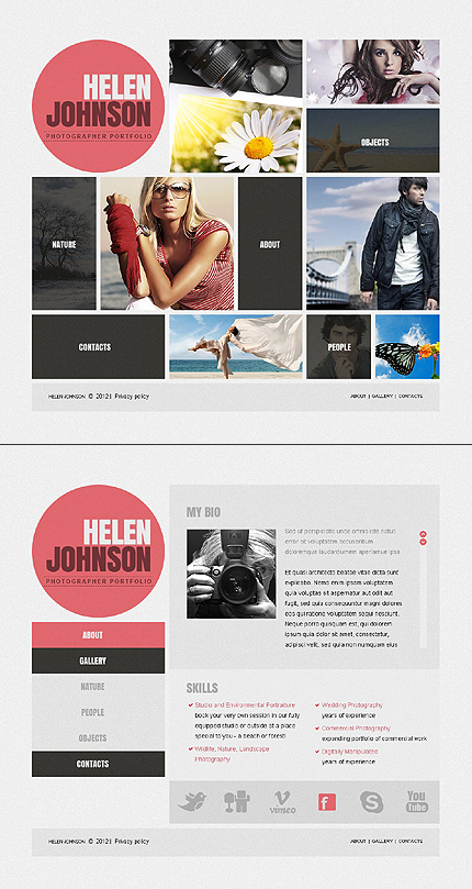 ADOBE Photoshop Template 41848 Home Page Screenshot