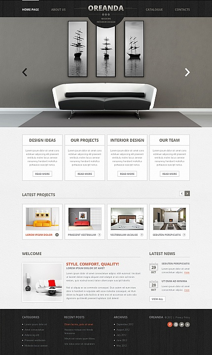 ADOBE Photoshop Template 41853 Home Page Screenshot