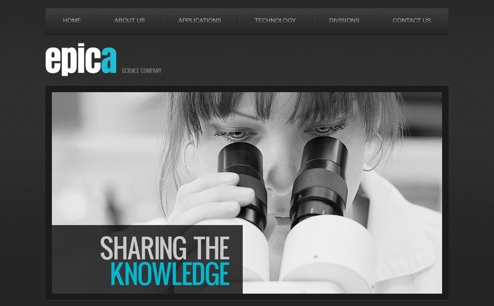 Template Moto CMS HTML para Sites de Ciência №41854 New Screenshots BIG