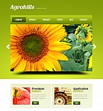 Agriculture Moto CMS HTML  Template 41855
