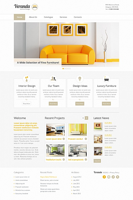 ADOBE Photoshop Template 41856 Home Page Screenshot