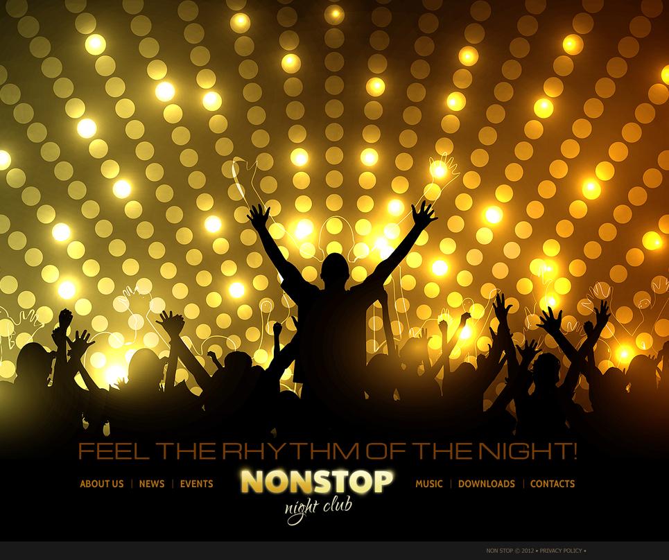 Nightclub Website Template with The Bottom Menu Bar - image