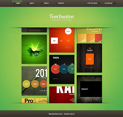 ADOBE Photoshop Template 41862 Home Page Screenshot