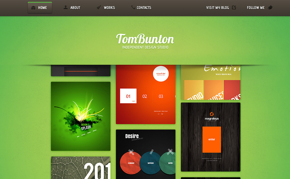 Template Moto CMS HTML para Sites de Estúdio de Design №41862 New Screenshots BIG