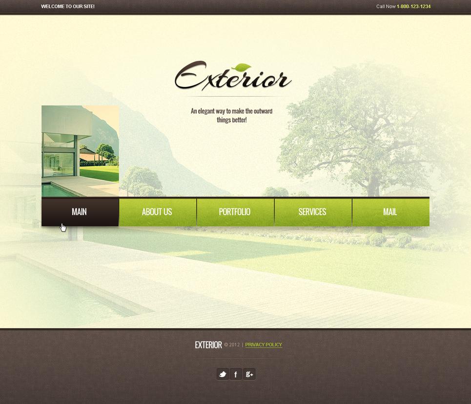 Archaistic Exterior Design Studio Website Template - image