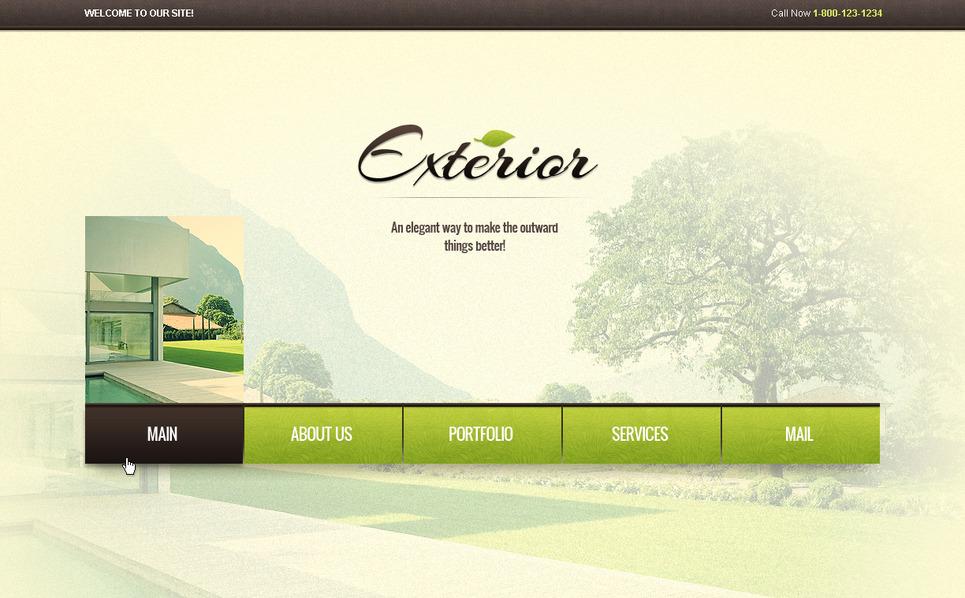 Premium Moto CMS HTML Template over Exterieur-design  New Screenshots BIG