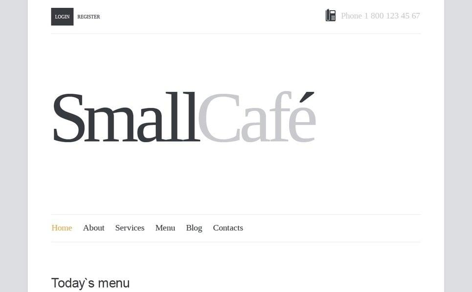 Joomla šablona Kavárna New Screenshots BIG