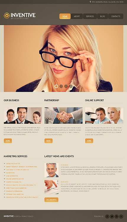 Joomla Theme/Template 41872 Main Page Screenshot