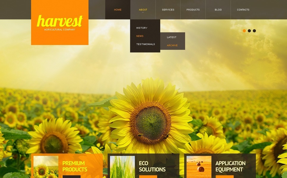 Tema Siti Web  #41877 per Un Sito di Agricoltura New Screenshots BIG