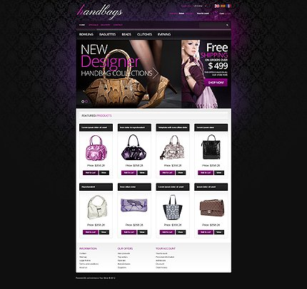 osCommerce Template 41884 Main Page Screenshot