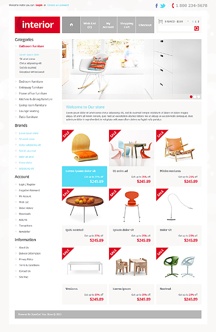 ADOBE Photoshop Template 41886 Home Page Screenshot