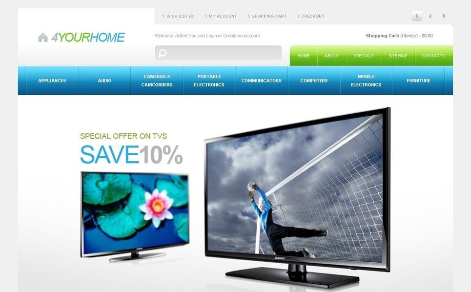 Elektronikai üzletek OpenCart sablon New Screenshots BIG