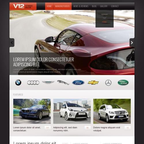 V12 - Drupal Template