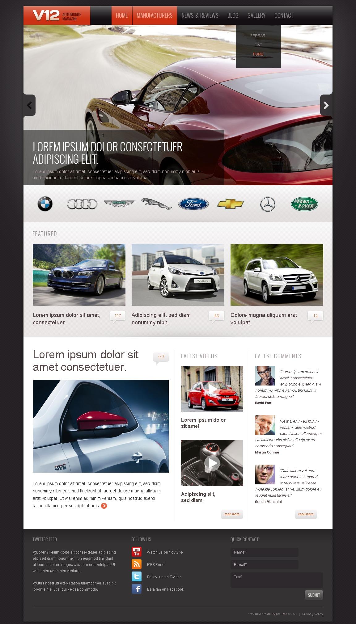 Drupal Vorlage für Automobilclub #41892